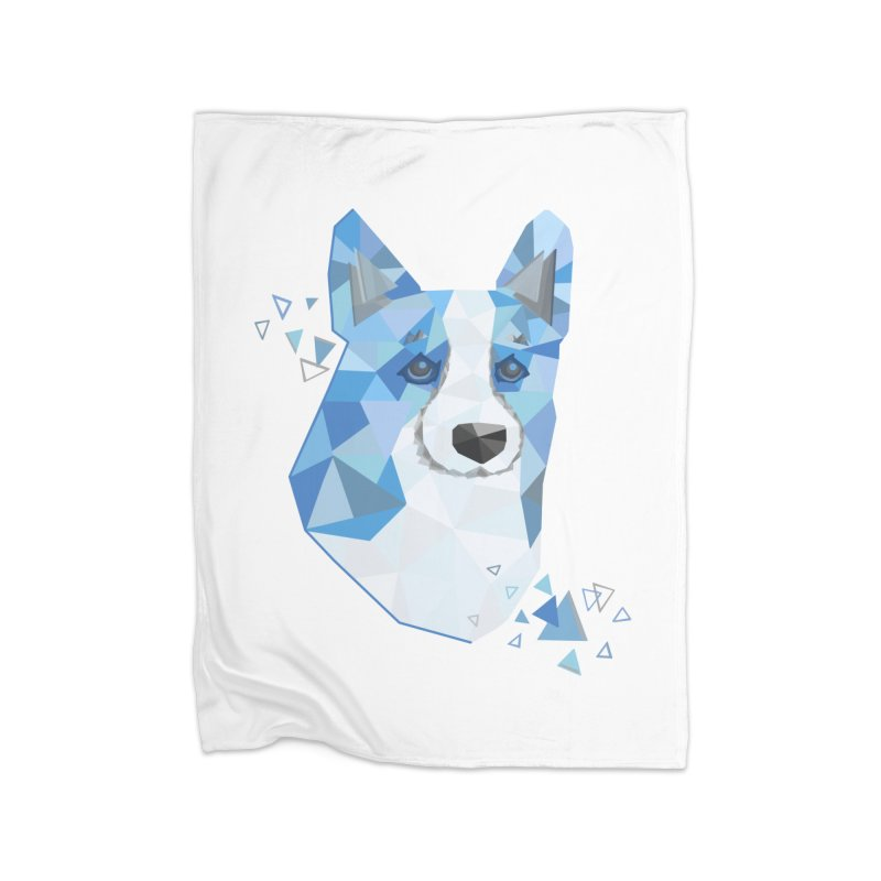 Geometric Corgi Home Blanket by Corgi Tales Books