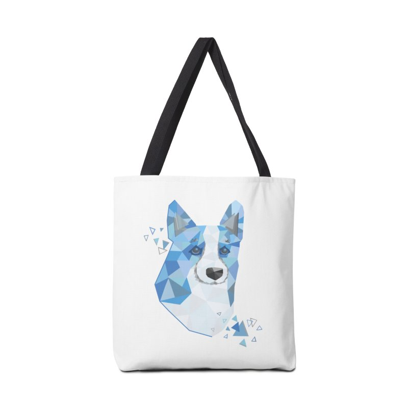 Geometric Corgi Accessories Bag by Corgi Tales Books