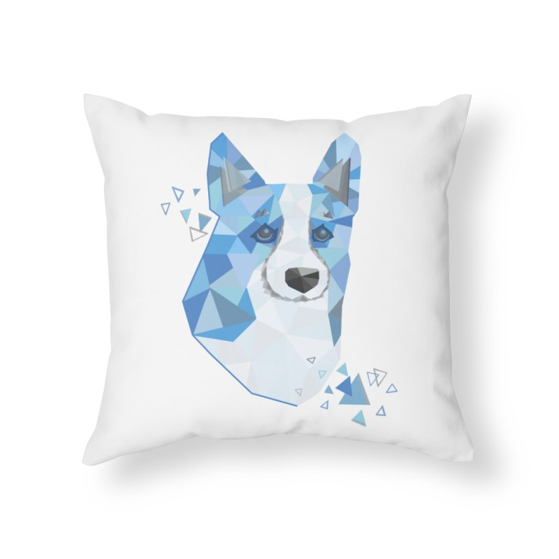 Geometric Corgi Home Throw Pillow by Corgi Tales Books