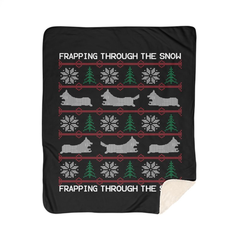 Corgi Holiday Sweater Home Sherpa Blanket Blanket by Corgi Tales Books