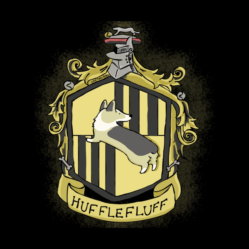 PotterCorgs - HuffleFluff Men's T-Shirt by Corgi Tales Books