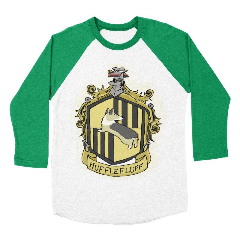 PotterCorgs - HuffleFluff Women's Baseball Triblend Longsleeve T-Shirt by Corgi Tales Books