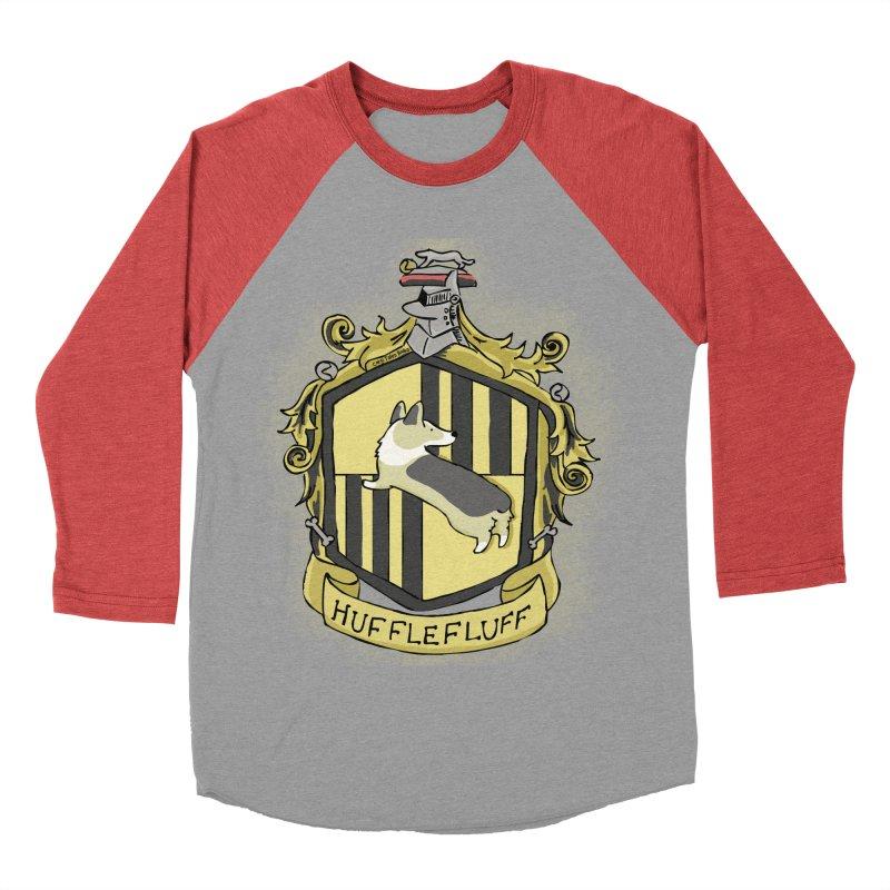PotterCorgs - HuffleFluff Women's Baseball Triblend T-Shirt by Corgi Tales Books
