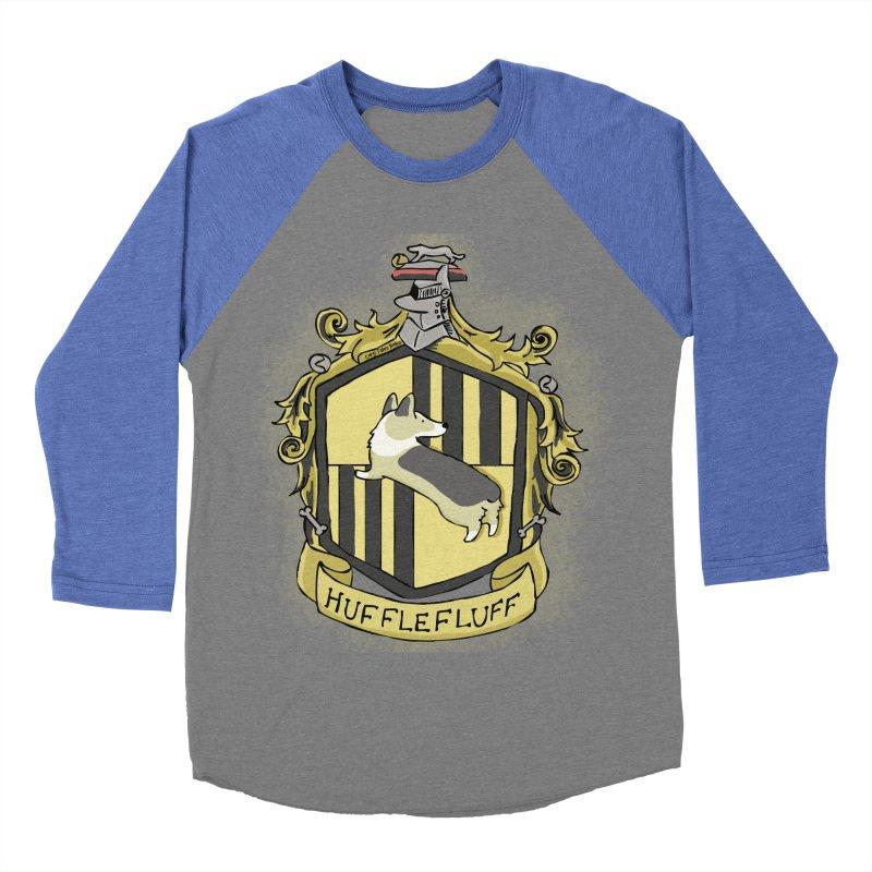 PotterCorgs - HuffleFluff Men's Baseball Triblend Longsleeve T-Shirt by Corgi Tales Books