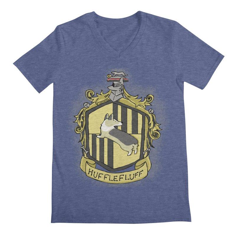 PotterCorgs - HuffleFluff Men's Regular V-Neck by Corgi Tales Books