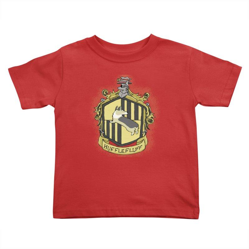 PotterCorgs - HuffleFluff Kids Toddler T-Shirt by Corgi Tales Books