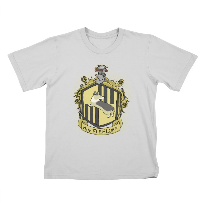 PotterCorgs - HuffleFluff Kids T-Shirt by Corgi Tales Books