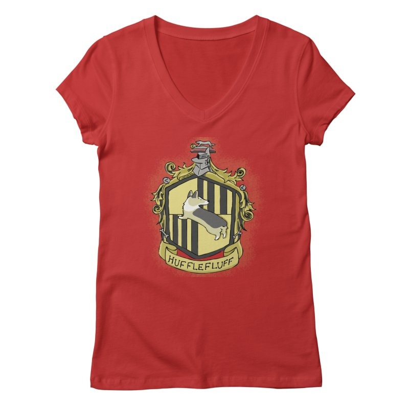 PotterCorgs - HuffleFluff Women's Regular V-Neck by Corgi Tales Books