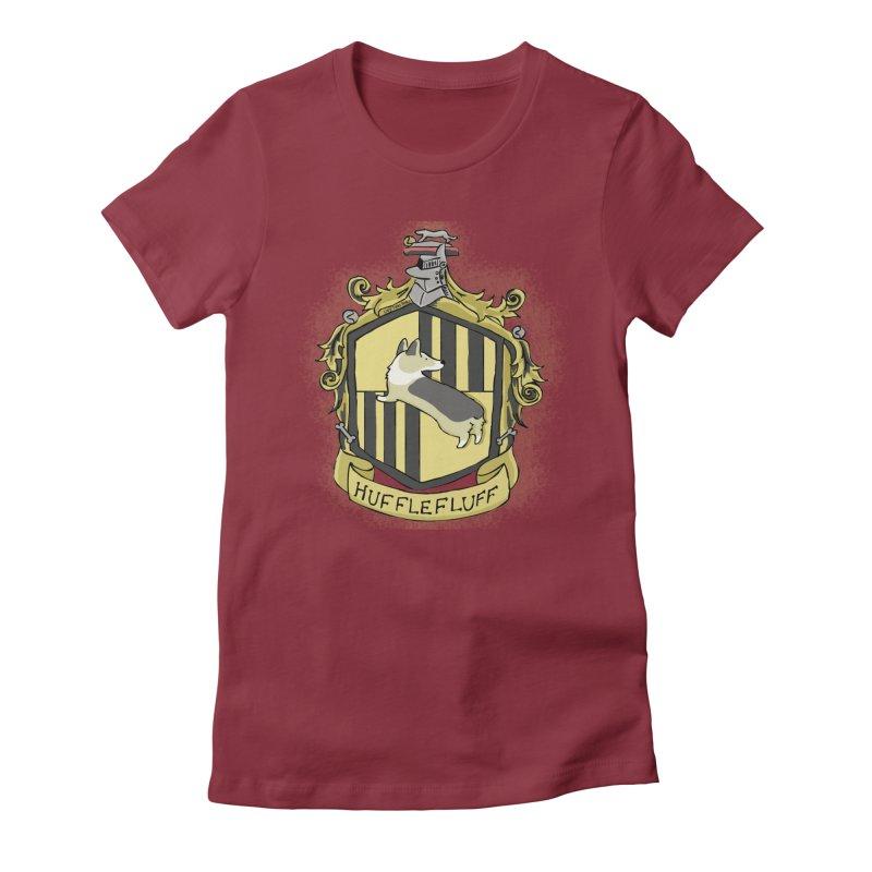 PotterCorgs - HuffleFluff Women's Fitted T-Shirt by Corgi Tales Books