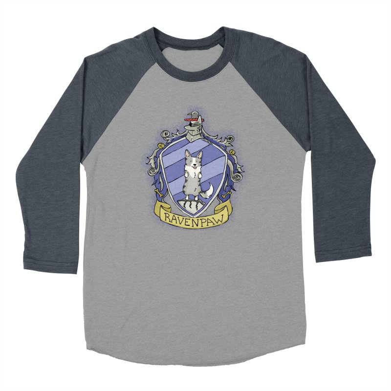 PotterCorgs - RavenPaw Men's Baseball Triblend Longsleeve T-Shirt by Corgi Tales Books