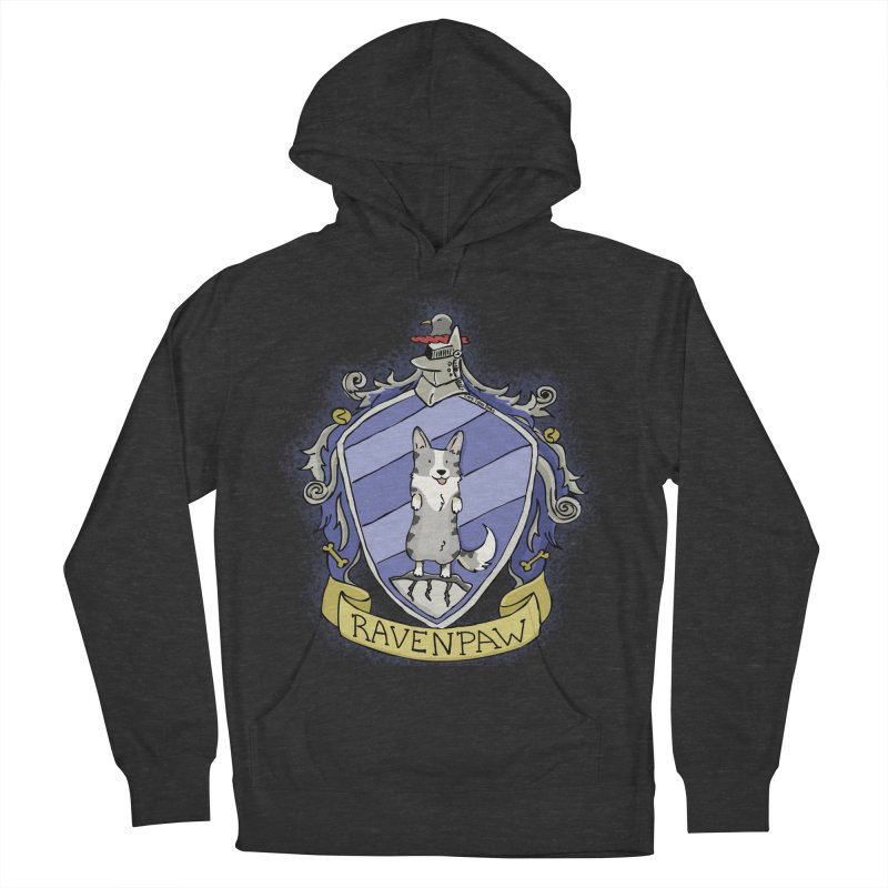 PotterCorgs - RavenPaw Men's French Terry Pullover Hoody by Corgi Tales Books