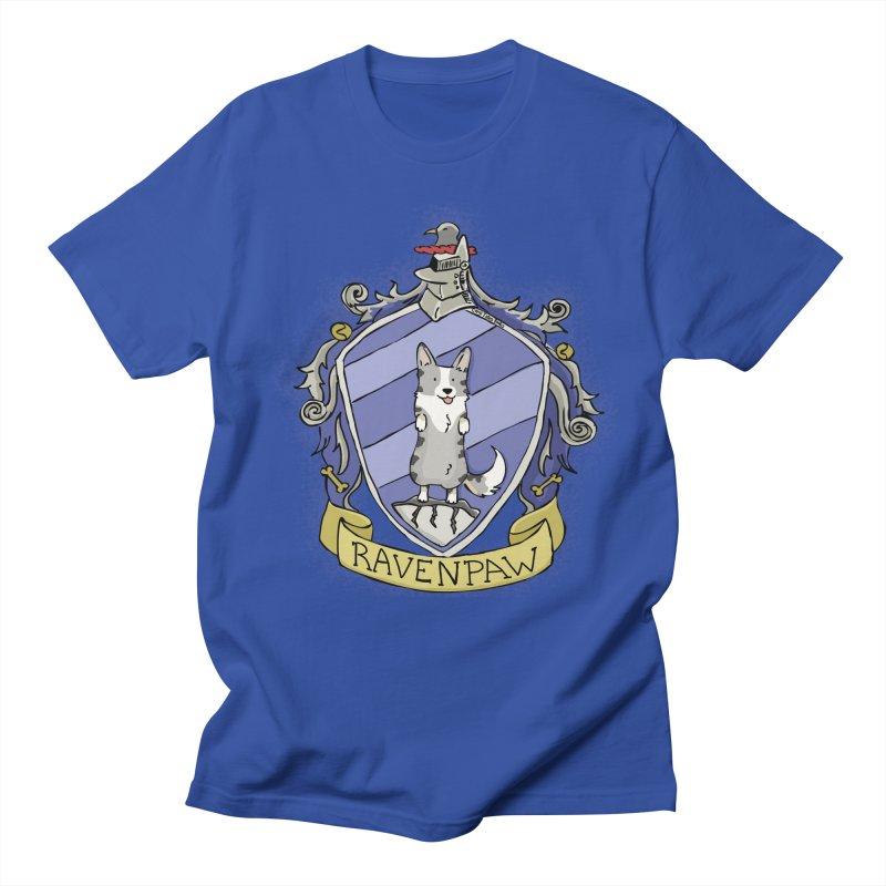 PotterCorgs - RavenPaw Men's Regular T-Shirt by Corgi Tales Books