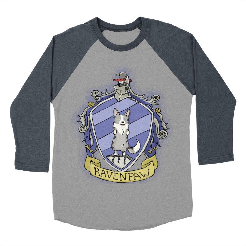 PotterCorgs - RavenPaw Men's Baseball Triblend T-Shirt by Corgi Tales Books