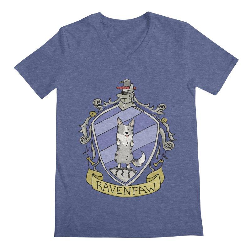 PotterCorgs - RavenPaw Men's Regular V-Neck by Corgi Tales Books
