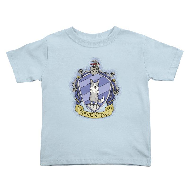 PotterCorgs - RavenPaw Kids Toddler T-Shirt by Corgi Tales Books