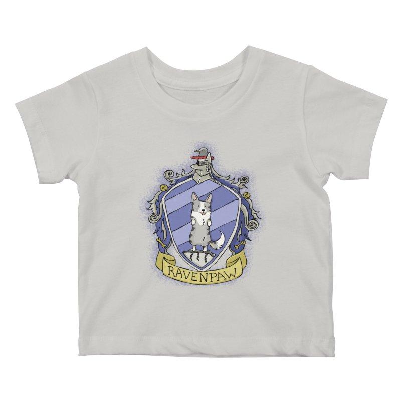PotterCorgs - RavenPaw Kids Baby T-Shirt by Corgi Tales Books