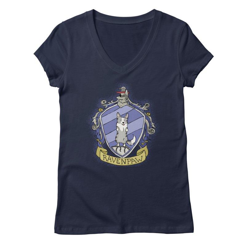 PotterCorgs - RavenPaw Women's V-Neck by Corgi Tales Books