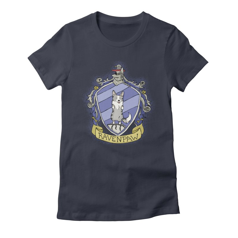 PotterCorgs - RavenPaw Women's Fitted T-Shirt by Corgi Tales Books