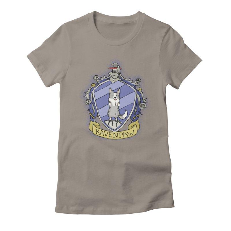 PotterCorgs - RavenPaw Women's Fitted T-Shirt by Corgi Tales Books