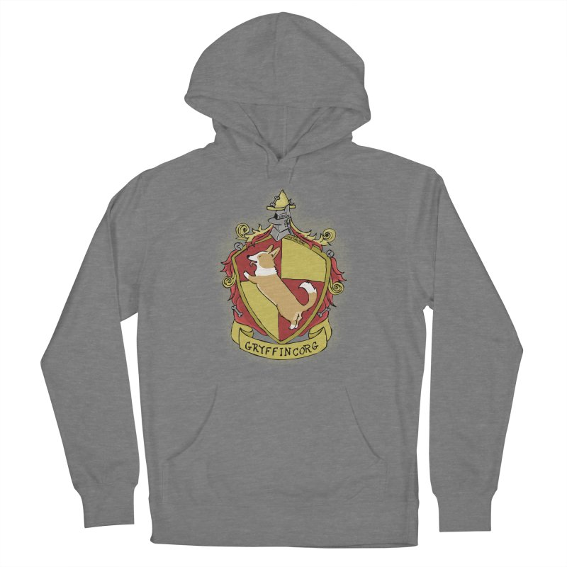 PotterCorgs - GryffinCorg Men's French Terry Pullover Hoody by Corgi Tales Books