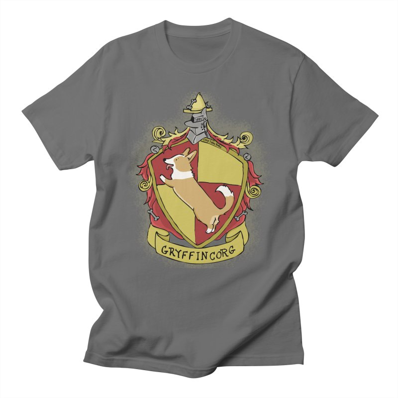 PotterCorgs - GryffinCorg Men's T-Shirt by Corgi Tales Books