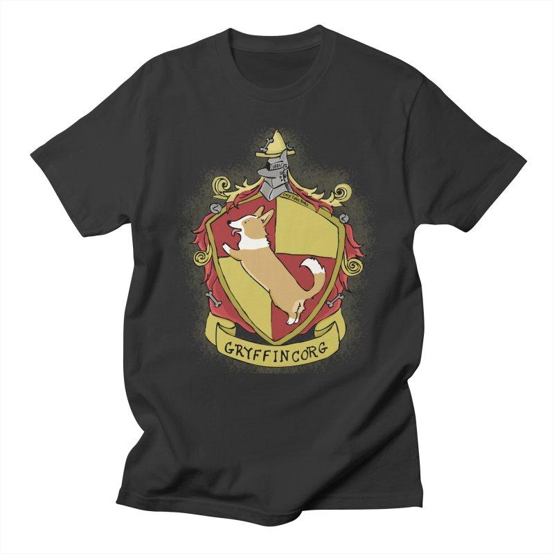 PotterCorgs - GryffinCorg Men's Regular T-Shirt by Corgi Tales Books