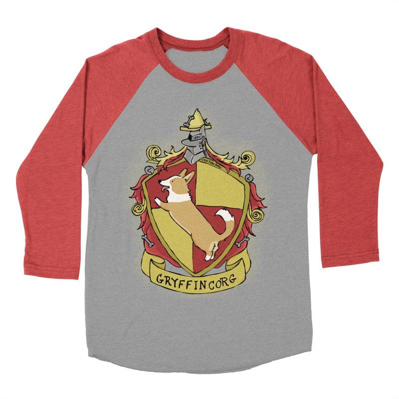 PotterCorgs - GryffinCorg Men's Baseball Triblend T-Shirt by Corgi Tales Books