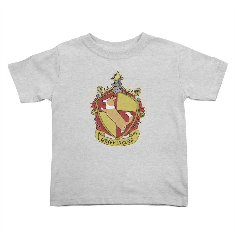 PotterCorgs - GryffinCorg Kids Toddler T-Shirt by Corgi Tales Books