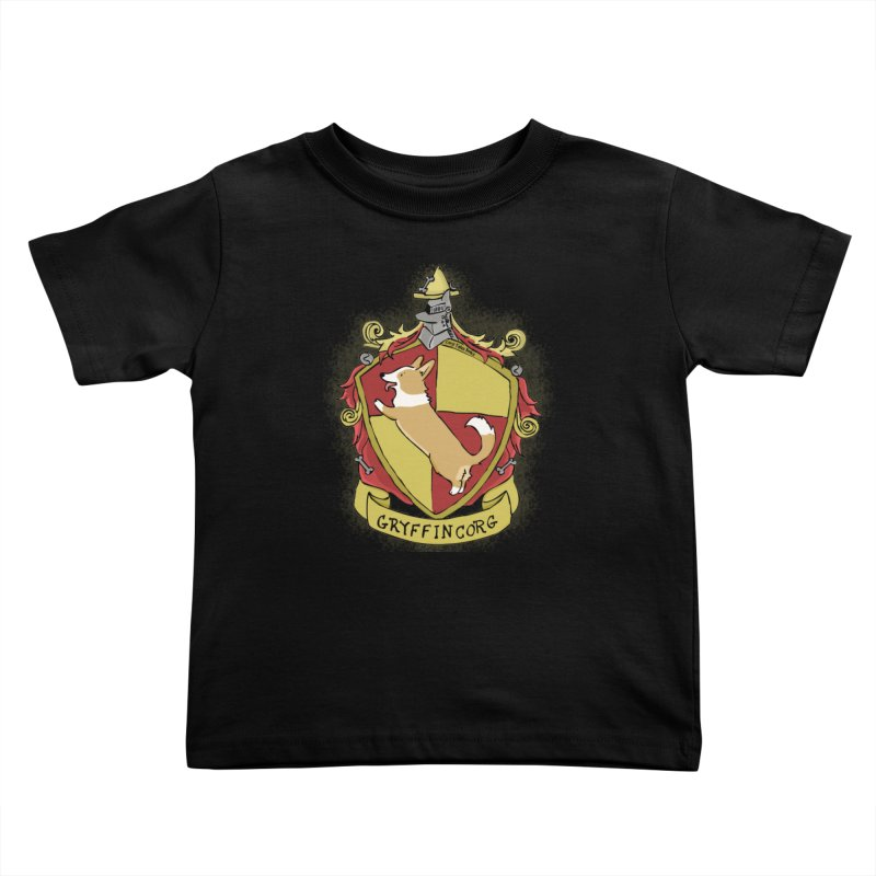 PotterCorgs - GryffinCorg Kids Toddler T-Shirt by Corgi Tales Books