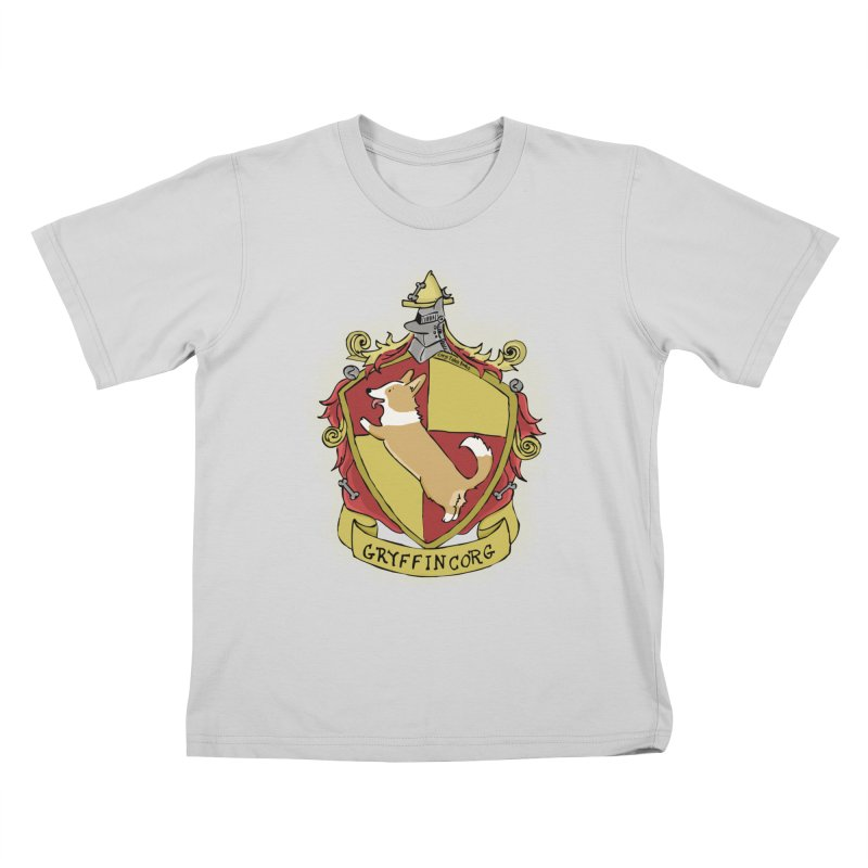 PotterCorgs - GryffinCorg Kids T-Shirt by Corgi Tales Books