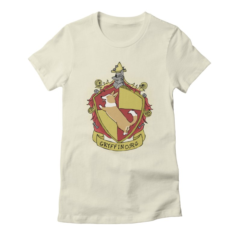 PotterCorgs - GryffinCorg Women's Fitted T-Shirt by Corgi Tales Books