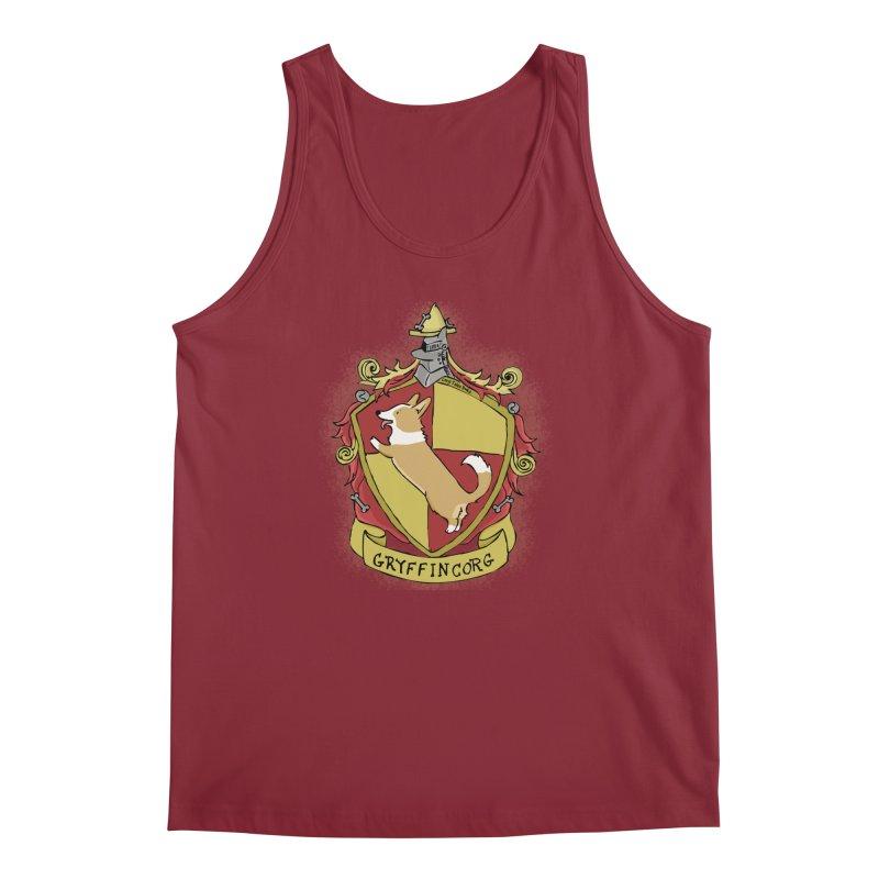 PotterCorgs - GryffinCorg Men's Regular Tank by Corgi Tales Books