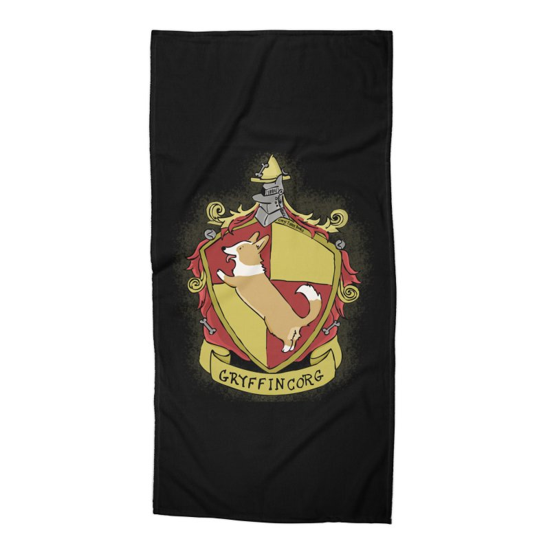 PotterCorgs - GryffinCorg Accessories Beach Towel by Corgi Tales Books