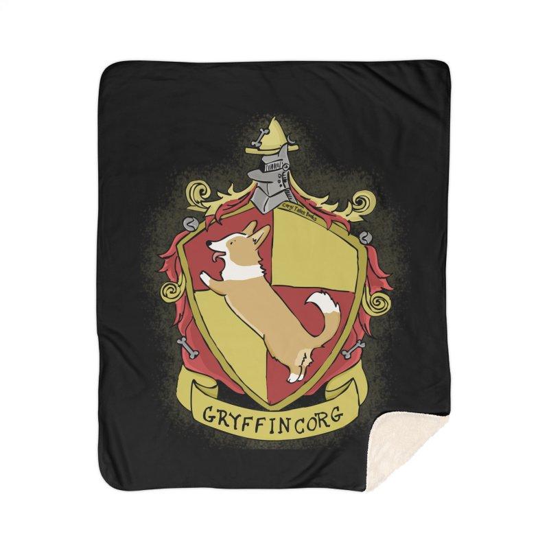 PotterCorgs - GryffinCorg Home Sherpa Blanket Blanket by Corgi Tales Books
