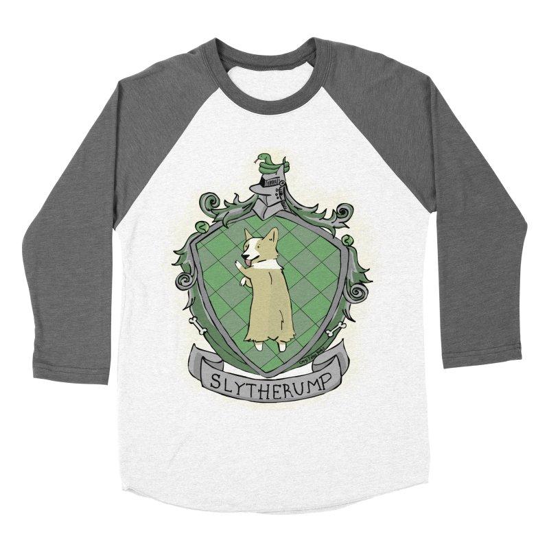 PotterCorgs - Slytherump Women's Baseball Triblend Longsleeve T-Shirt by Corgi Tales Books