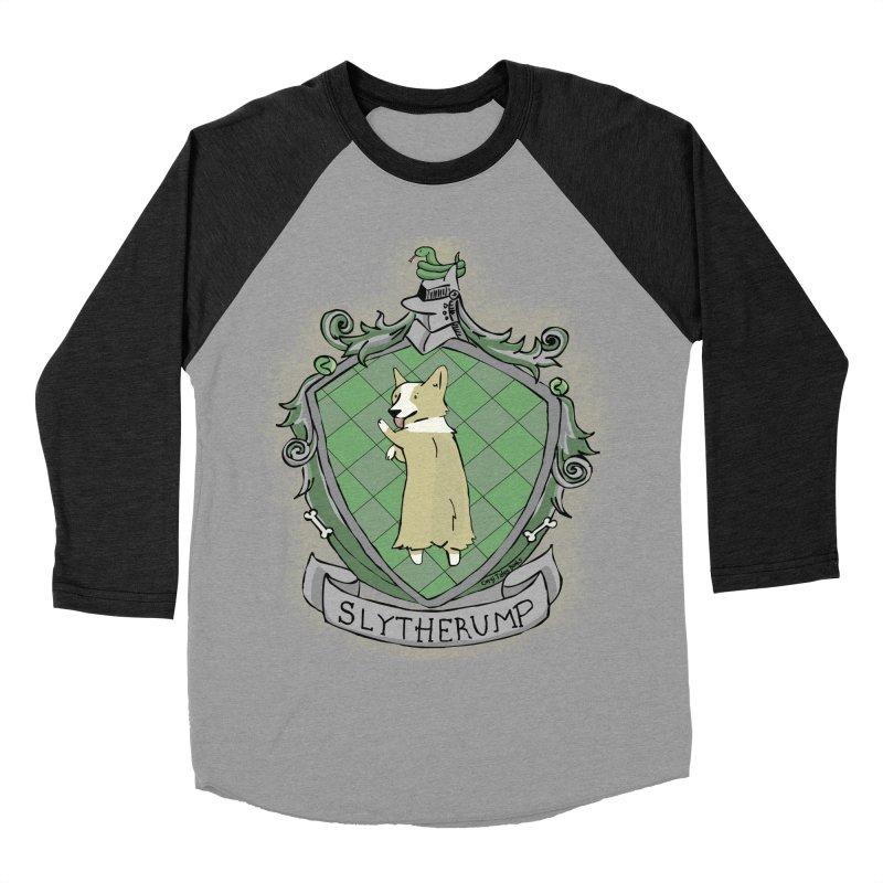PotterCorgs - Slytherump Women's Baseball Triblend T-Shirt by Corgi Tales Books