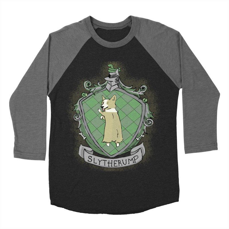 PotterCorgs - Slytherump Men's Baseball Triblend T-Shirt by Corgi Tales Books