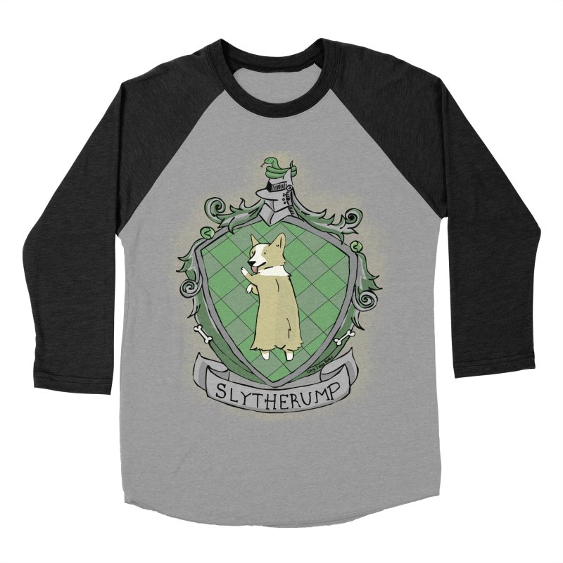 PotterCorgs - Slytherump Men's Baseball Triblend Longsleeve T-Shirt by Corgi Tales Books