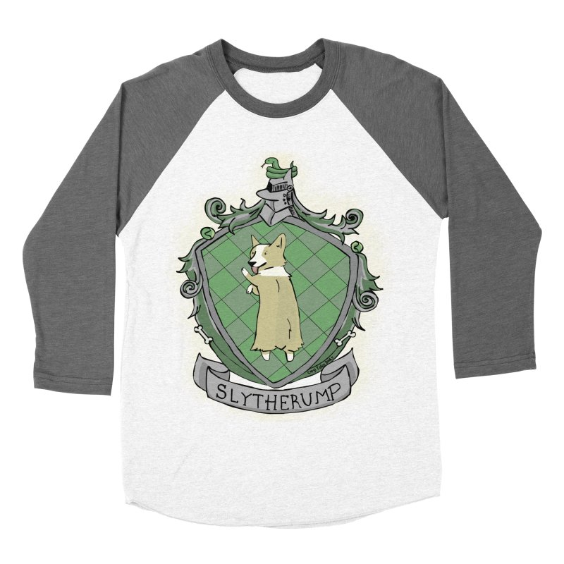 PotterCorgs - Slytherump Men's Baseball Triblend Longsleeve T-Shirt by Corgi Tales Books