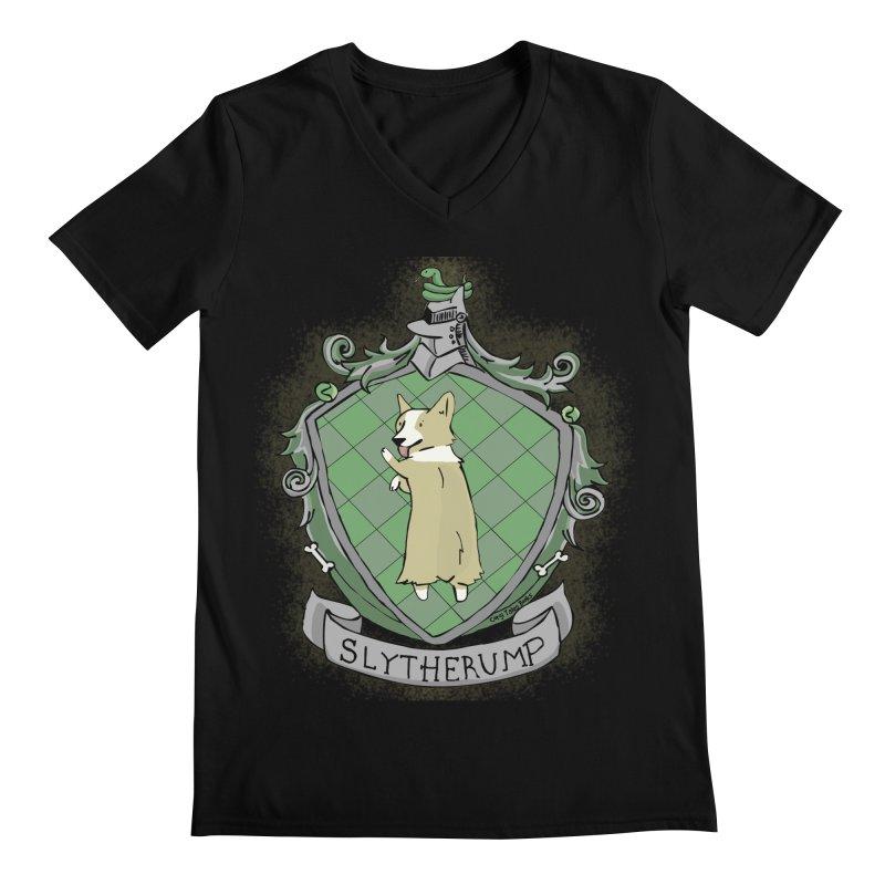 PotterCorgs - Slytherump Men's Regular V-Neck by Corgi Tales Books