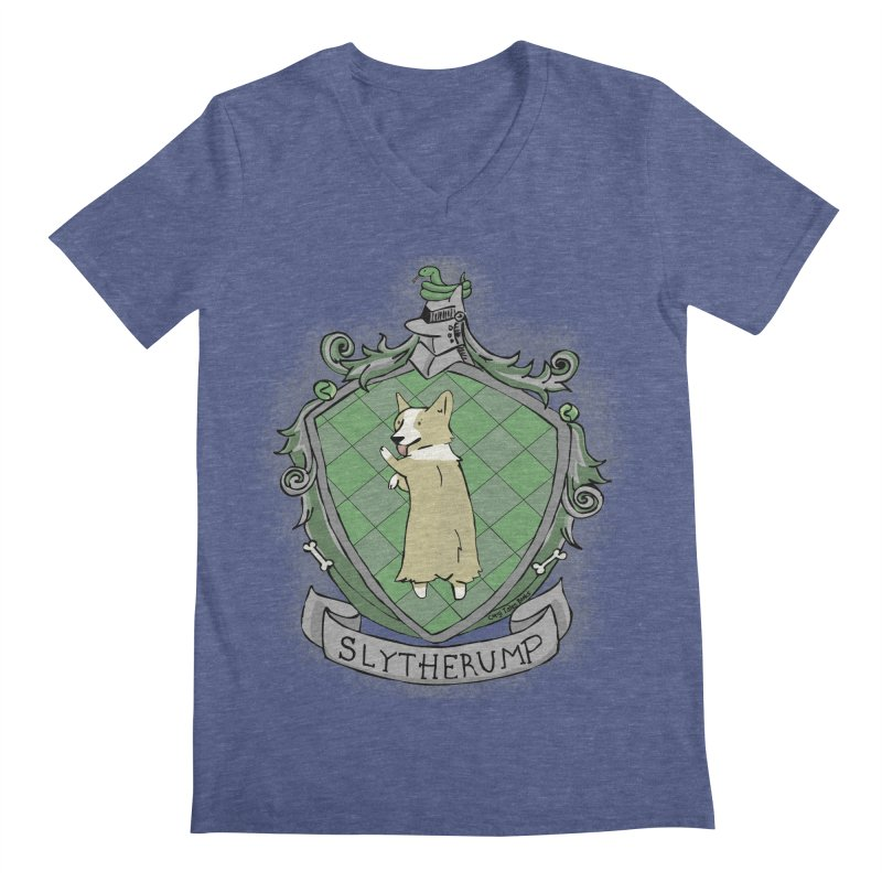 PotterCorgs - Slytherump Men's Regular V-Neck by Corgi Tales Books