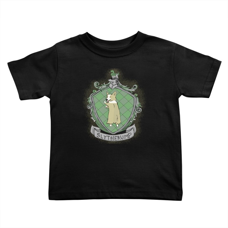 PotterCorgs - Slytherump Kids Toddler T-Shirt by Corgi Tales Books