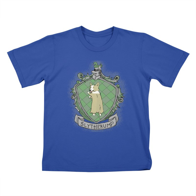 PotterCorgs - Slytherump Kids T-Shirt by Corgi Tales Books