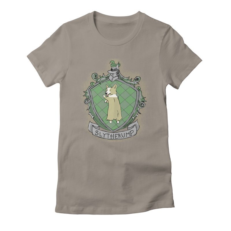 PotterCorgs - Slytherump Women's Fitted T-Shirt by Corgi Tales Books