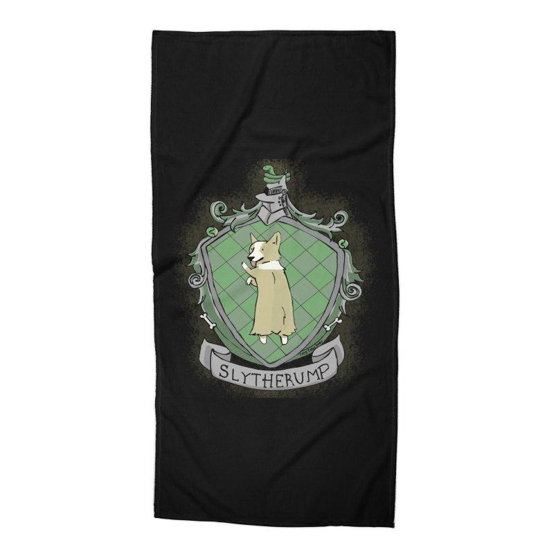 PotterCorgs - Slytherump Accessories Beach Towel by Corgi Tales Books
