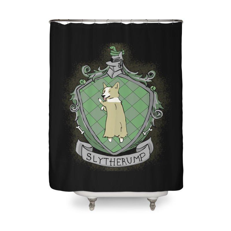 PotterCorgs - Slytherump Home Shower Curtain by Corgi Tales Books