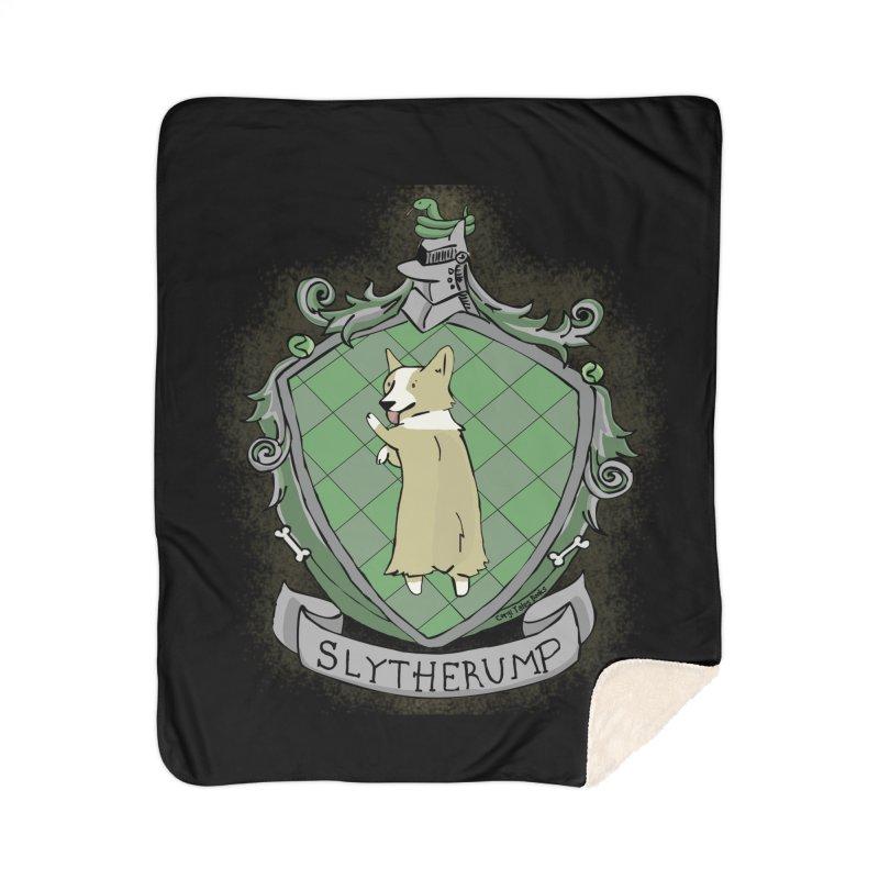 PotterCorgs - Slytherump Home Sherpa Blanket Blanket by Corgi Tales Books