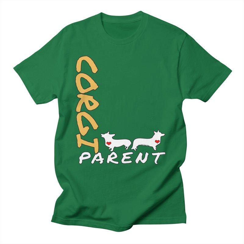 Corgi Parent Men's Regular T-Shirt by Corgi Tales Books