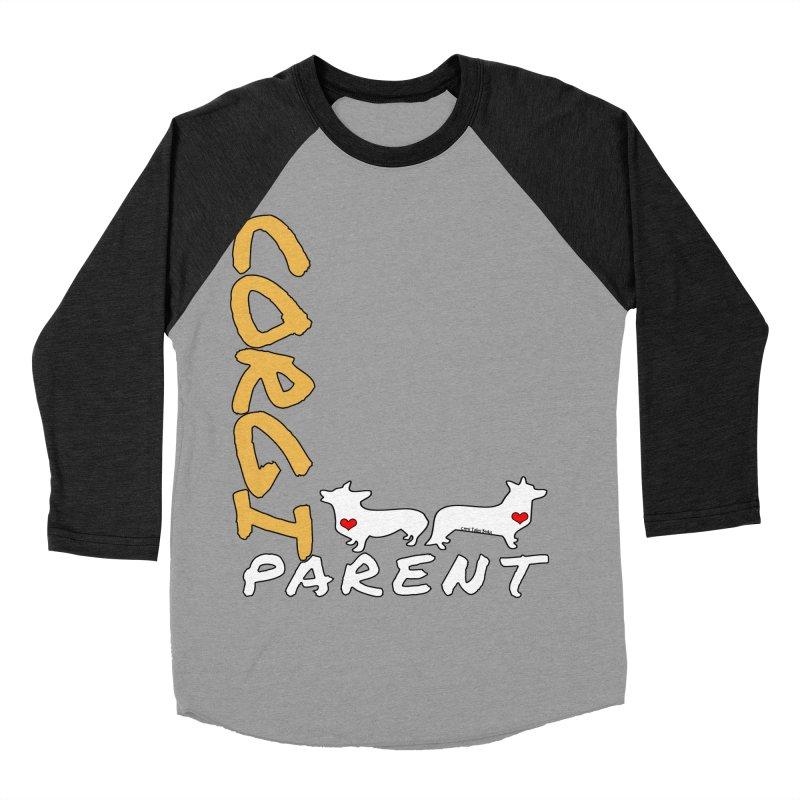Corgi Parent Women's Baseball Triblend Longsleeve T-Shirt by Corgi Tales Books