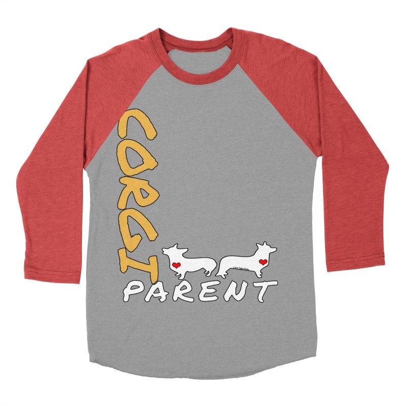 Corgi Parent Men's Baseball Triblend Longsleeve T-Shirt by Corgi Tales Books